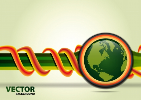 echo: Green planet on vector baskground Stock Photo