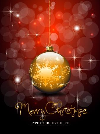 christmas ball: Christmas gold ball