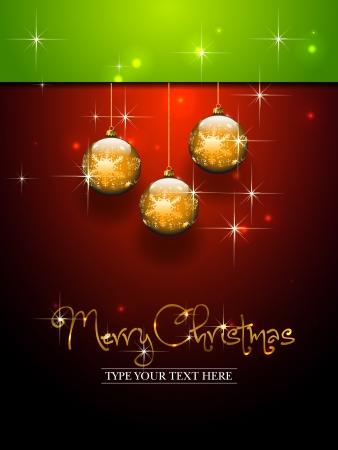 Three gold balls template - Christmas theme Vector