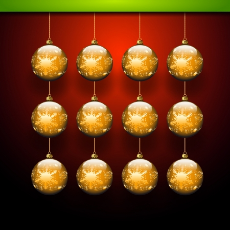 Gold balls template - Christmas theme Vector