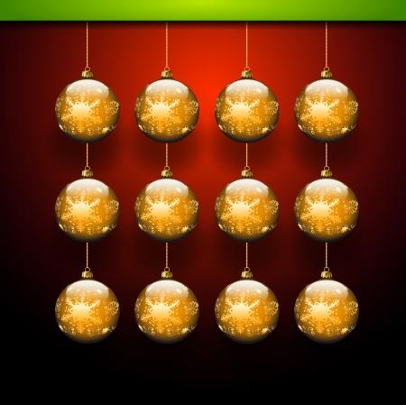 Gold balls template - Christmas theme Stock Vector - 16459668
