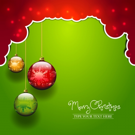 Three balls template - Christmas theme