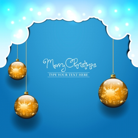 Three balls template - Christmas theme Vector