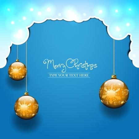 Three balls template - Christmas theme Stock Vector - 16459666