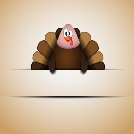 Cute cartoon Thanksgiving turkey  Vector