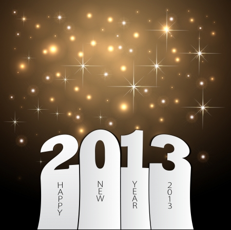 Happy new year 2013 ilustration Vector