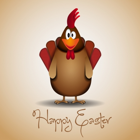 Cute Rooster Stock Vector - 16856044