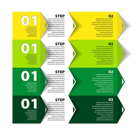 istruzione: Modello moderno di Design - numerati banner - Infografica per il layout web vettoriale