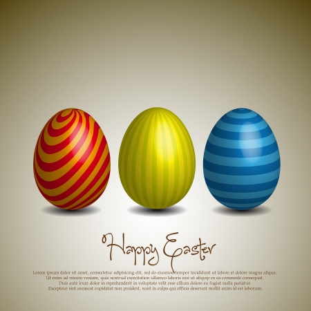 Beautiful Easter colorful eggs - Vector Illustrator Vector