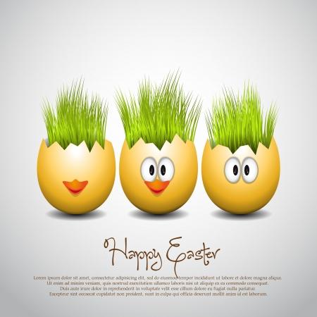 cracked egg: Easter eggs Vector Illustrator Illustration