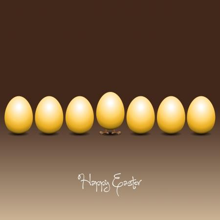 poult: Easter eggs Vector Illustrator Illustration