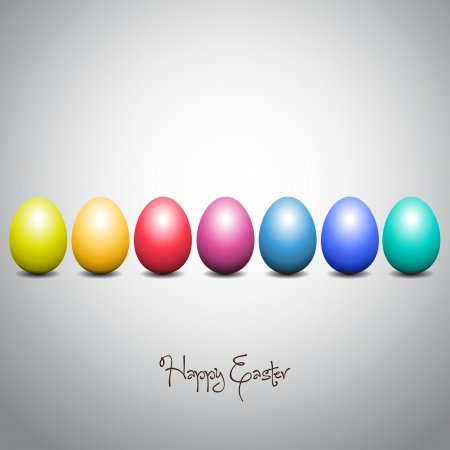 Colorful Easter eggs Vector Illustrator Vector