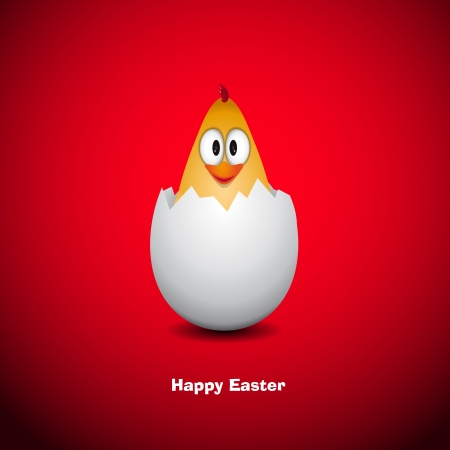 Funny Easter egg chicken Vector Illustrator Vector