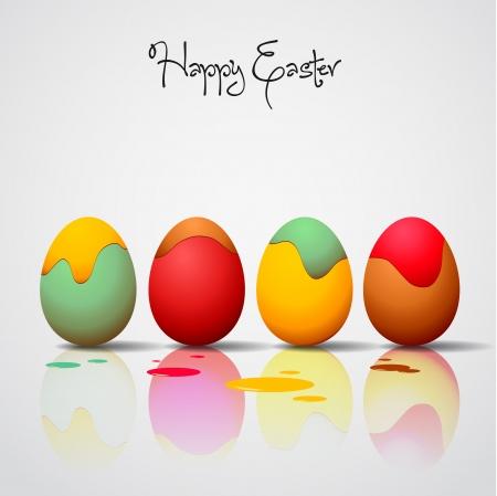 Easter eggs on background - vector illustration Vector