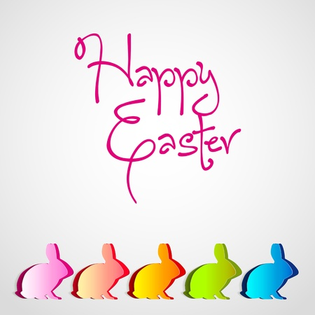 Happy easter cards illustration with easter eggs and font Vector