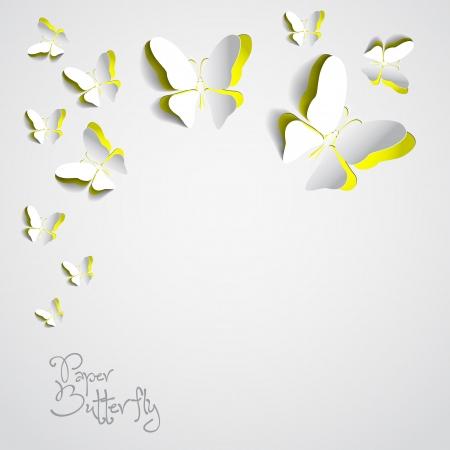 Wenskaart met papier vlinders