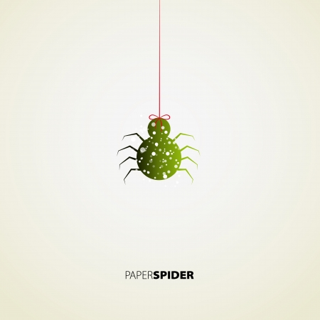 Paper Spider card design background Vector