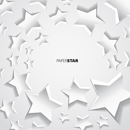 Paper star background motive Vector