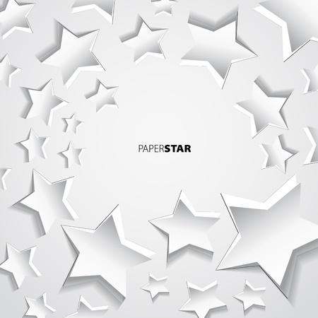 Paper star background motive
