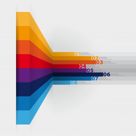 paper graphic: vector web design template - vertical lines in perspective