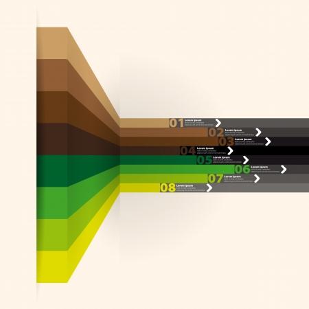 vector web design template - verticale lijnen in perspectief Stock Illustratie