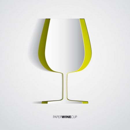 Wine cup from paper - vector illustration Vector