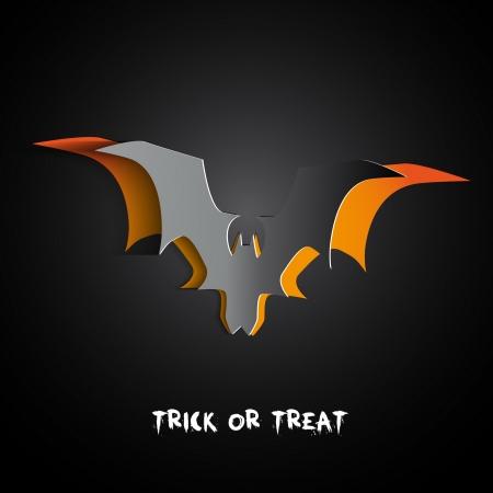 happy halloween: Paper Bat Happy halloween card theme