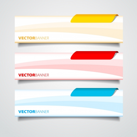 Web banners templates  イラスト・ベクター素材