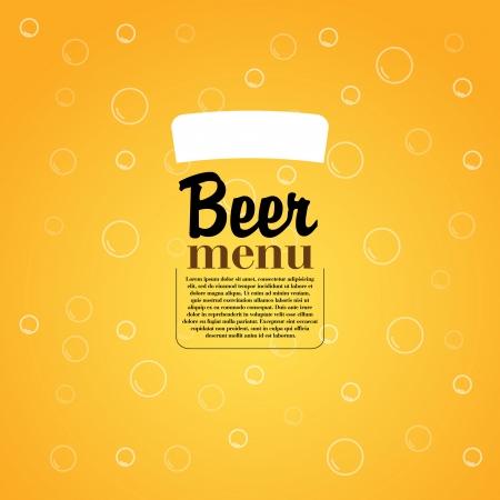 Beer Menu - Elegant restaurant theme - Vector Illustration