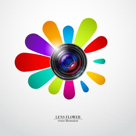 telephoto: Lens flower  Illustration
