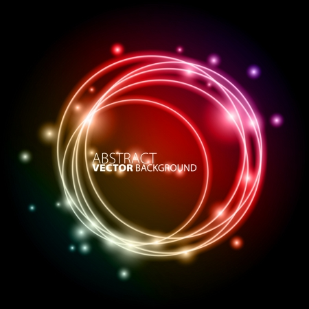 Abstract color circle background  イラスト・ベクター素材
