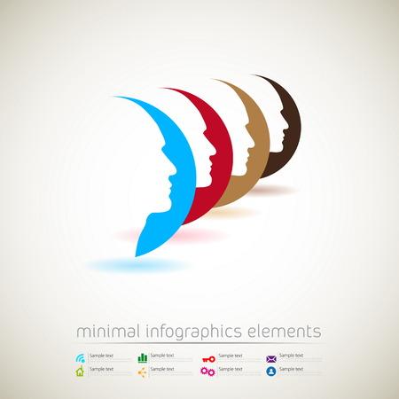 pas d accord: Infographie modernes de conception minimal