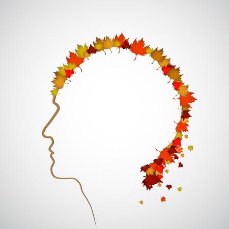 aura: Herbst und fallthema Kopf mit Bl�ttern