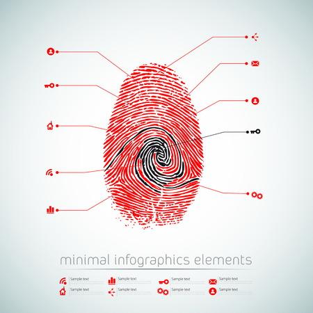 Modern infographics minimal design - vector eps10 Illustration