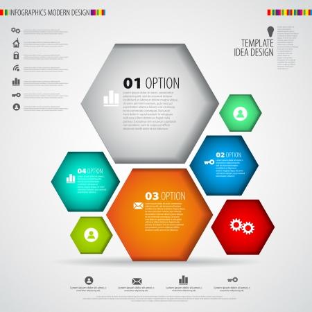phonographic: Modern infographics minimal design - vector eps10 Illustration