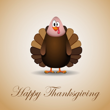 Happy thanksgiving theme card vector illustration Vector