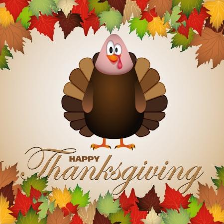 Happy thanksgiving theme card vector illustration Illustration