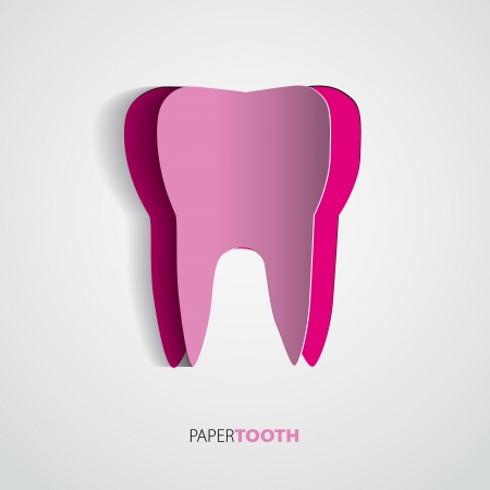 Paper tooth vector illustration