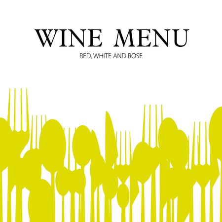 Wine menu design card