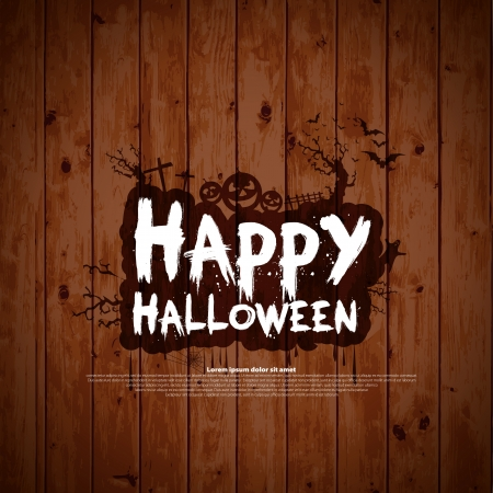 happy halloween: Happy Halloween message design background, vector illustration