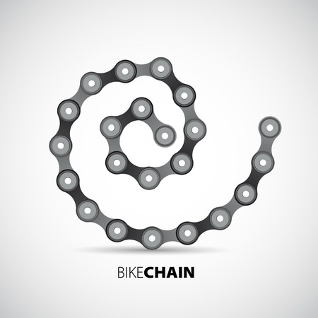 Vector circle shape from bicycle chain Vector