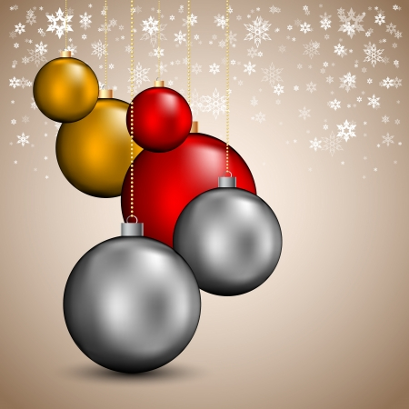 Merry Christmas background with balls Stock Vector - 23777488