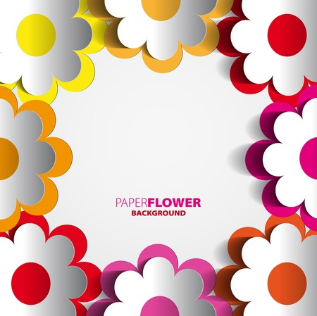 Color paper flowers cutout background eps10 vector illustration color paper flowers cutout background eps10 vector illustration stock vector 24341349 mightylinksfo