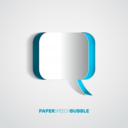 Paper Speech bubble - Abstract 3D Design