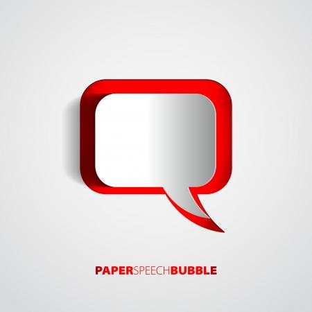 Paper Speech bubble - Abstract 3D Design