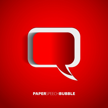 bubble speech: Paper Speech bubble - Abstract 3D Design