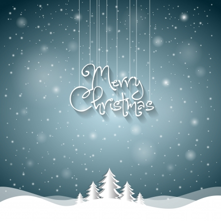 new year  s day: Christmas Greeting Card  Merry Christmas lettering Illustration