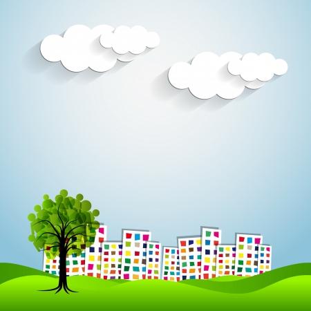 urban city graphic design   イラスト・ベクター素材