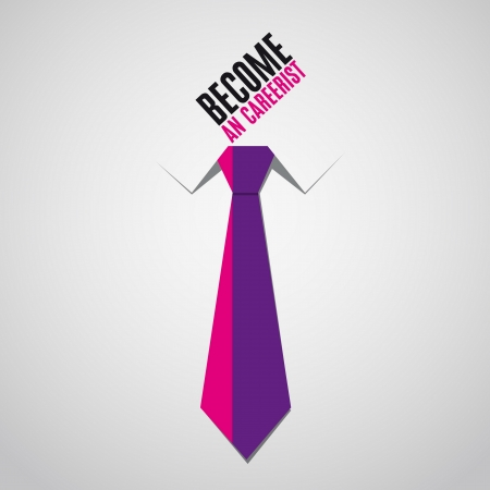 become: Tie business - become an carrerist - bacground vector