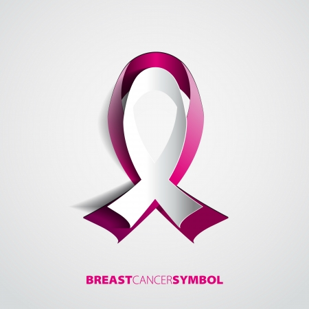 Global breast cancer awareness concept illustration - ribbon symbol  EPS10 Vector